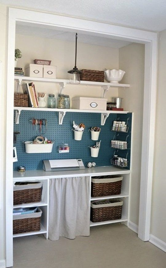 Inspiring transform closet into office roselawnlutheran for Transform small closet space