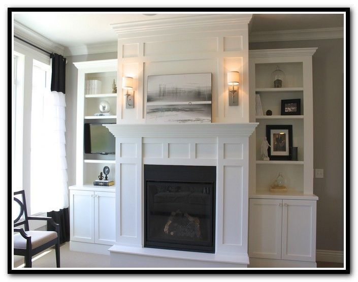 Best  Shelves Around Fireplace Ideas On Pinterest Craftsman - Fireplace with bookshelves