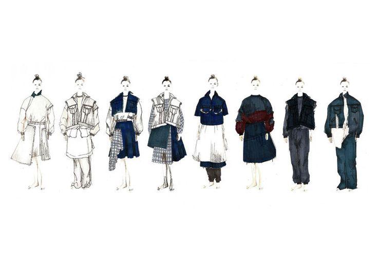 Fashion Sketchbook - fashion design drawings, womenswear collection lineup - fashion portfolio // Eun Kyeng Seo