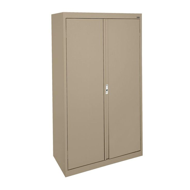 system series 30 in w x 64 in h x 18 in d double door storage cabinet with adjustable shelves in tropic sand