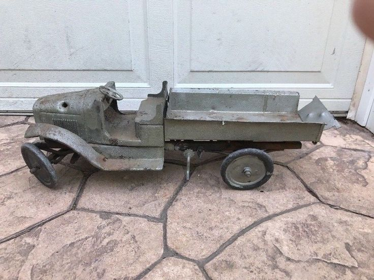 1920's Buddy L Or Keystone Or Steelcraft?? Pressed Steel Dump Truck Low Start