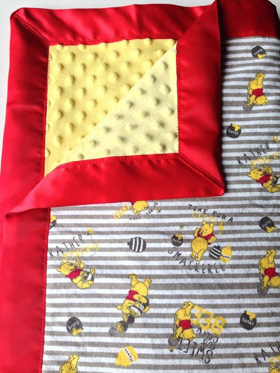 Winnie the Pooh baby blanket!!!!! How adorable for a gender neutral shower.