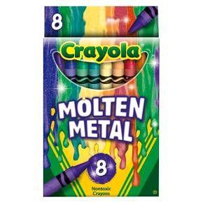 Crayola® Meltdown Molten Metal Crayons - 8ct : Target