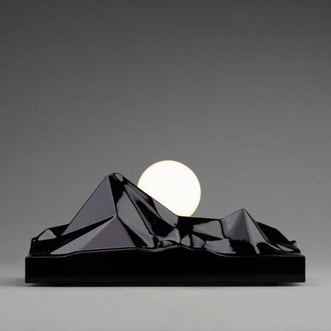 """Sunrising Lamp by Satoshi Itasaka, who """"...wanted to capture the feeling of reciting a resolution at sunrise on New Year's Day..."""" in a light."""