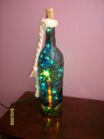Well known 55 best Hand Painted Lighted wine Bottle images on Pinterest  KS07