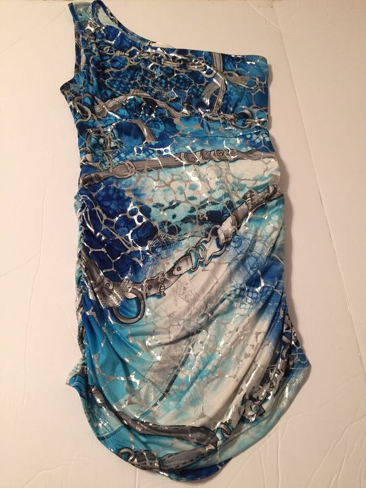 Body Central One shoulder multi-color metallic blouse/top gather at sides sz S #BodyCentral #Blouse #EveningOccasion