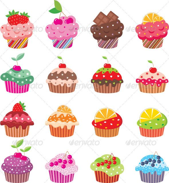 fondos de cupcakes