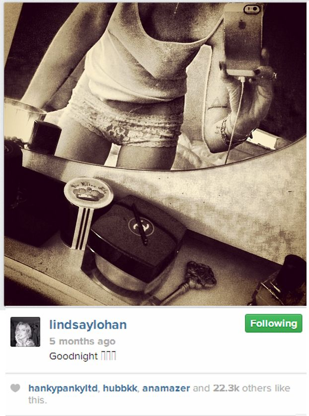 Lindsay Lohan photoshops her waist. Fans ask why.