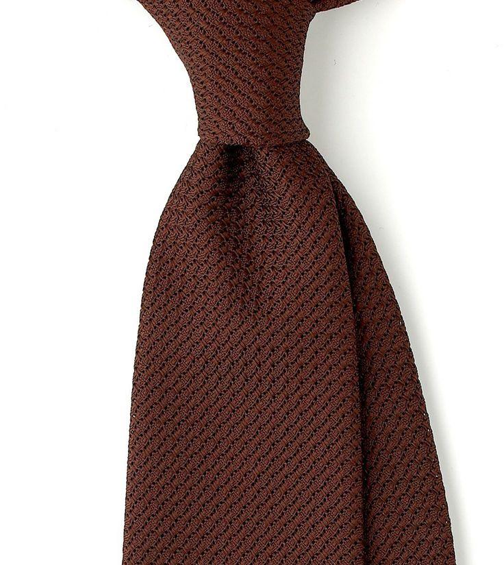 Untipped Woven Large Knot Grenadine Solid 8cm Silk Tie - Grenadine - Ties - Online Shop - Drakes London
