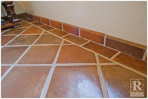 12x12 Super Sealed Manganese Saltillo Tile With Terranano