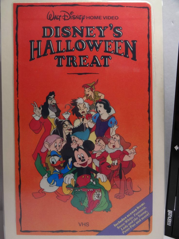 Disney S Halloween Treat Vhs Walt Disney Home Video