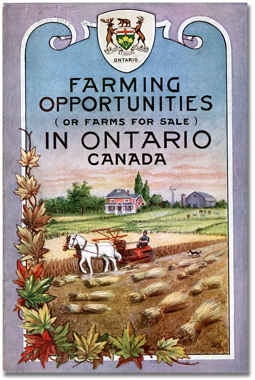 Pamphlet Cover: Values of farm property in Ontario, 1923