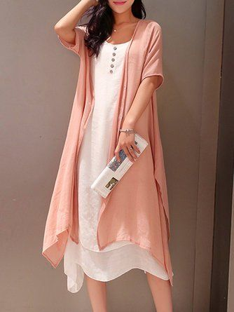 2f0ce6408a Justfashionnow Shirt Dress Long Sleeve Sundress Holiday Shift Crew Neck  Casual Cutout Cold Shoulder Dresses