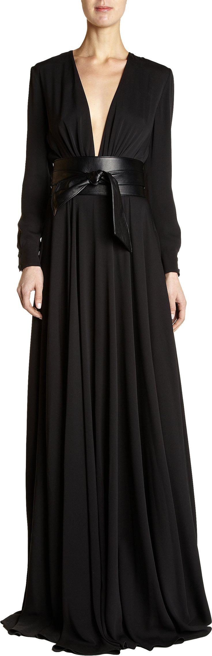 FALL 2013: SAINT LAURENT Belted Gown