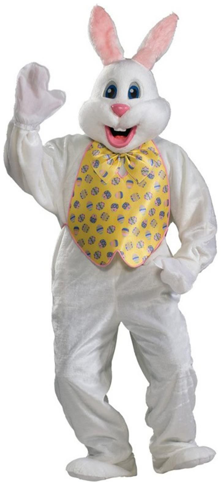 Spiffy Professional Easter Bunny Adult Costume. Exclusive selection of Animal & Bug Costumes for Easter Day at Partybell.    #easter #easterbunny #bunny