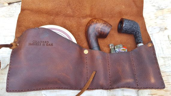 The Lewis Leather Pipe Case Pouch Roll Holder Porte