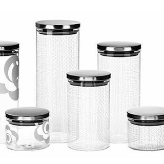 Loving these new glass canisters 💕 #decor #design #style #canisters #kitchen  #bzyoo #love #beauty #beautiful #cool #cute #food #foodstorage
