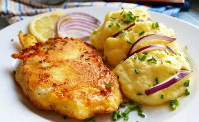 Francouzské řízky s bramborovou kaší | NejRecept.cz