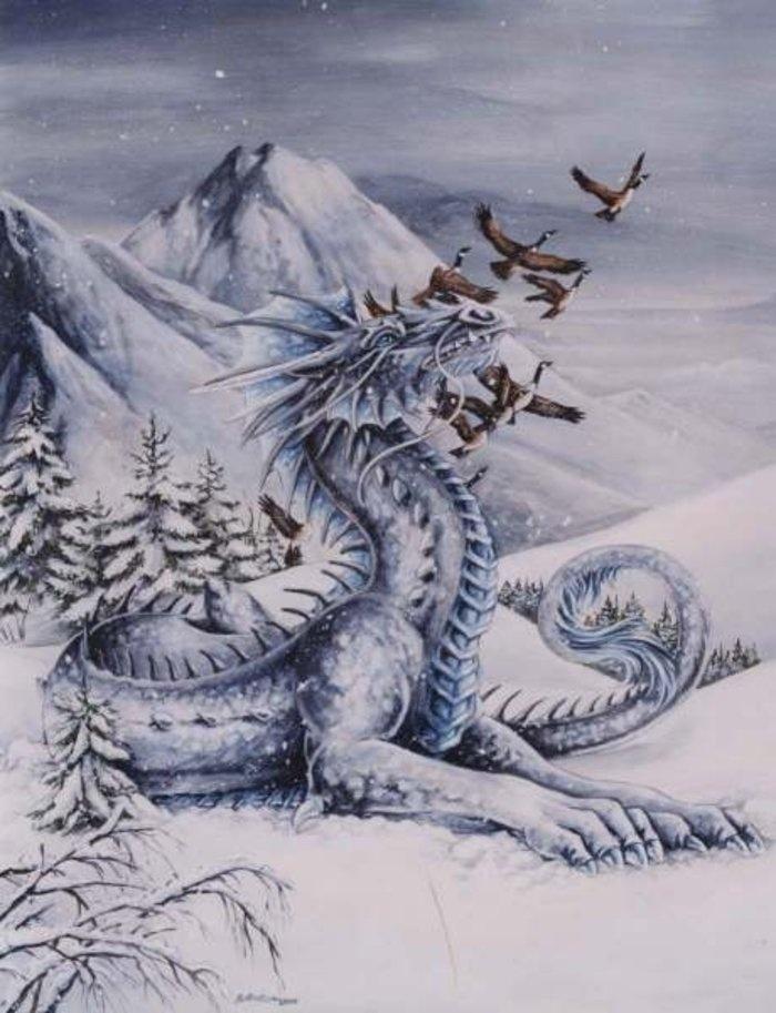 Зимний дракон картинки