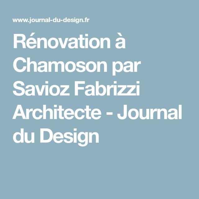Rénovation à Chamoson par Savioz Fabrizzi Architecte - Journal du Design