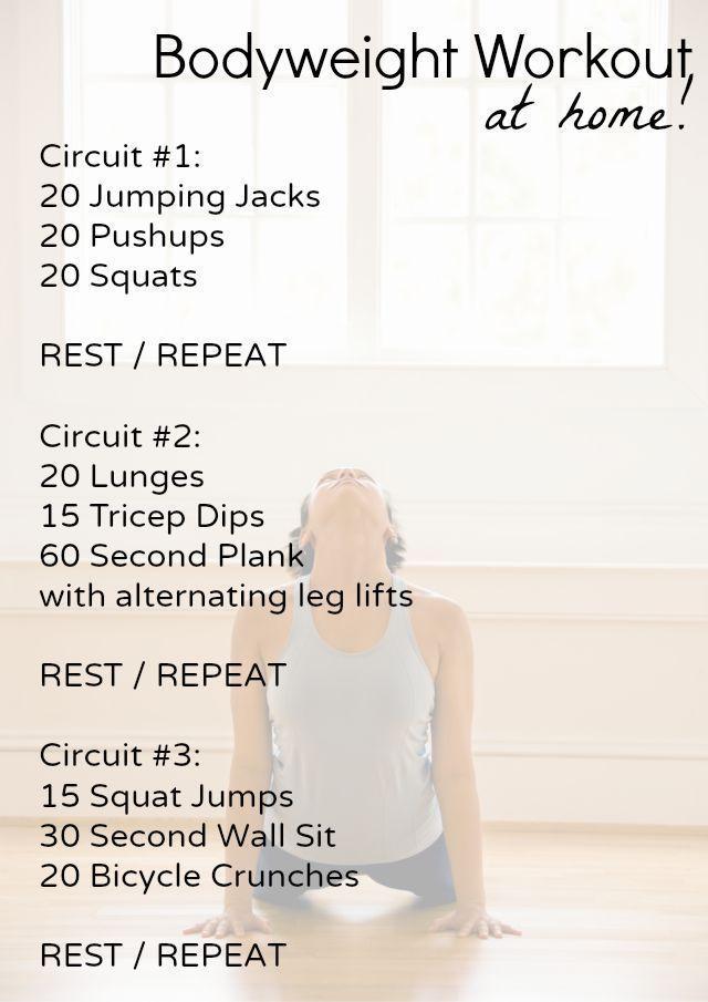 Beginner Bodyweight Home Workout