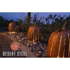 Lets get ready for Halloween.  Love this look for outdoor lighting - Add a fun outdoor steel pumpkin designed to stand a lone or go over your current outdoor lighting.   This pumpkin is meant to withstand the outdoor elements.   Find it here - http://www.allbackyardfun.com/patio-furniture/outdoor-accessories-and-decor/?limit=all
