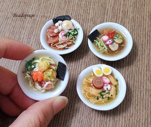 Dollhouse Miniature Food, Noodles, Japanese, Ramen, Porcelain, Bowl, Doll, Fake food, cute, kawaii, 1/6 scale