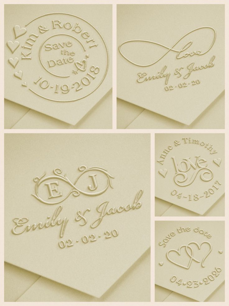 New Wedding Embosser Layouts Savethedate Matching Stamp Available Http