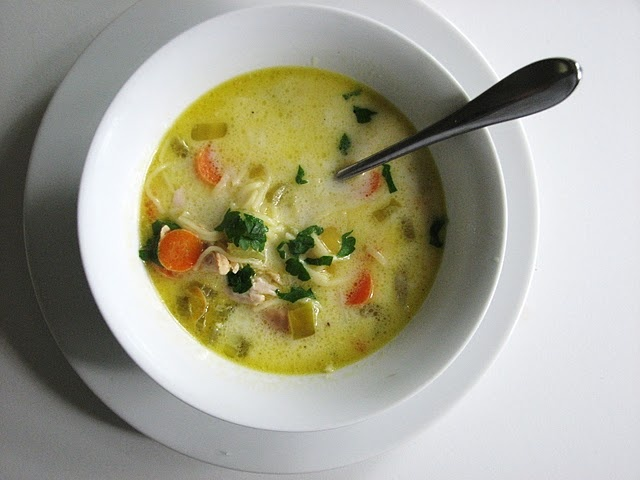 lemon & chicken soupChicken Soups, Food, Chicken Noodles Soup, Soup Recipe, Hair Nests, Lemon Chicken Soup, Cream, Puree Style, Angels Hair
