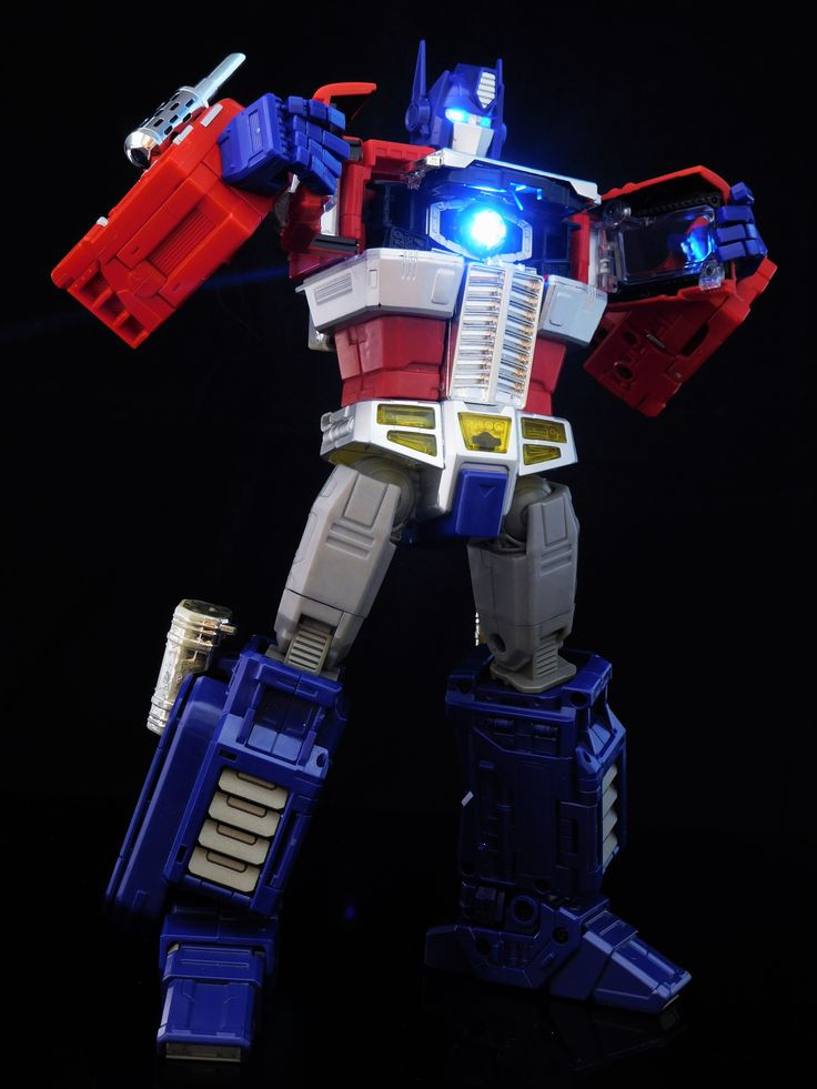 Transformers Masterpiece MP-10 Convoy (Optimus Prime) with custom lighting effects