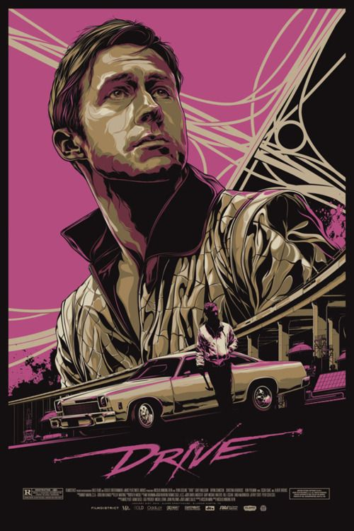 Mondo Tees new Drive poster. I have not personal connection to the movie, but this is awesome.