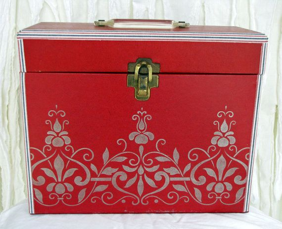 Vintage File Box  Office Storage  Porta File by SalvagedSanity, $25.00