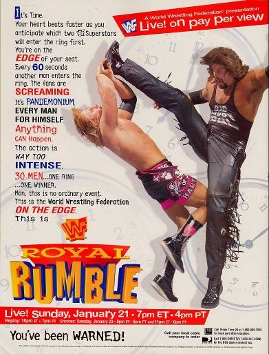 WWF / WWE Royal Rumble 1996: Event poster