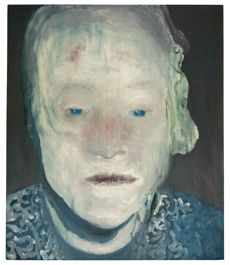 Marlene Dumas, The White Disease, 1985, oil on canvas, 49 3/16 x 41 5/16 in., Private Collection, © 2008 Marlene Dumas