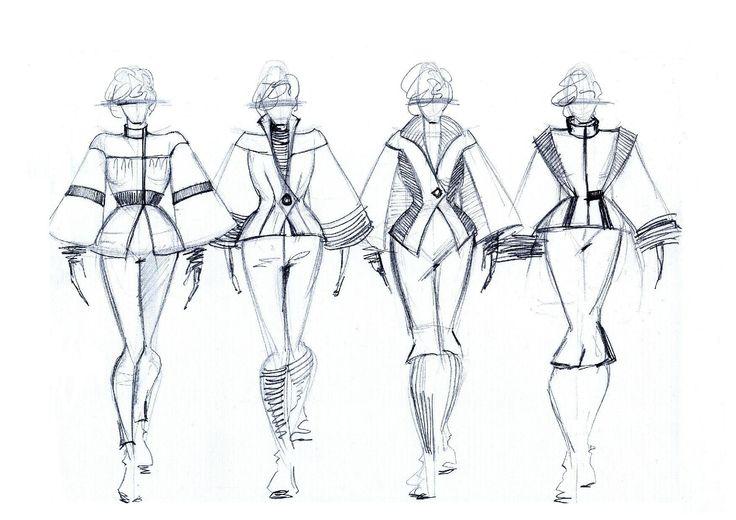 First sketches #ILLANGO #fashiondesign