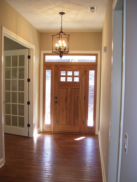open spaces and clean floors - love the light in the hall way