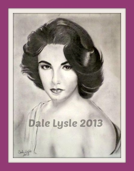 FOR SALE - FRAMED $95.00, NOT FRAMED $65.00, PRINTS $25.00 Elizabeth Taylor - A3 paper - graphite - Prints only available