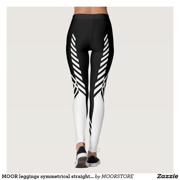 FASHION - PANTS - ZAZZLE - MOORSTORE - SYMMETRICAL STRAIGHT LINE LEGGINGS