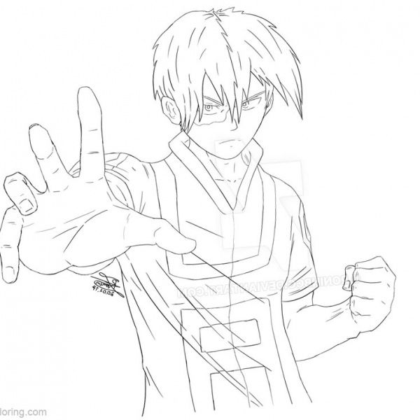 Boku No Hero Academia Coloring Pages Todoroki Lineart By Justaweirdgirl Free Printable Coloring Pages In 2020 Anime Drawings Sketches Coloring Pages Drawings