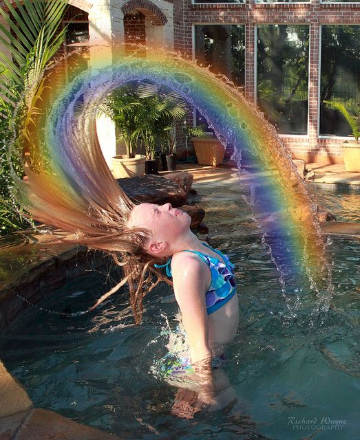 Emily Rainbow Water Hair Flip 2274 05-29-11 by uncle_rich0101, via Flickr
