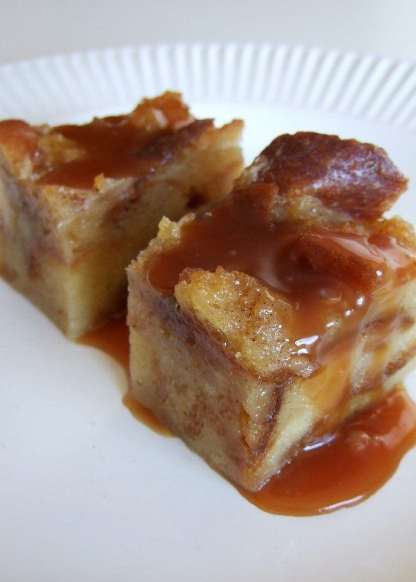 Bread Pudding with Caramel Sauce | treats and snacks | Pinterest