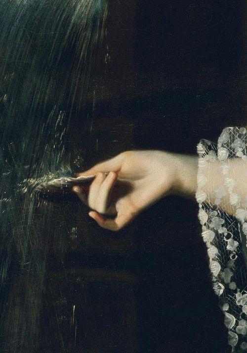 sommartidsvarmod:  Mrs. Daniel Sargent (Mary Turner), detail John Singleton Copley (1763)