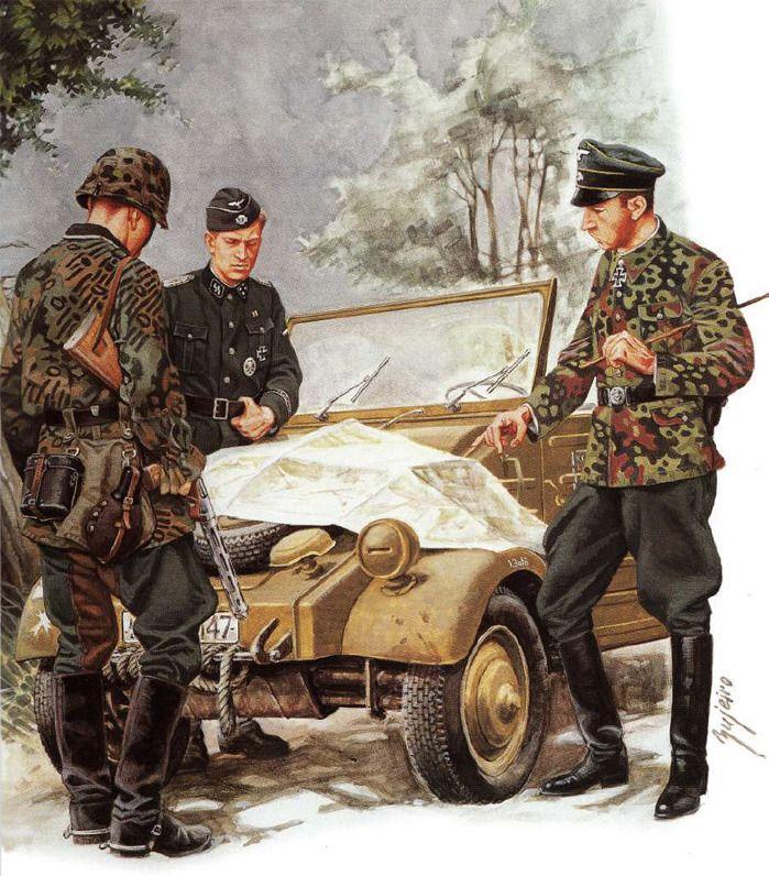 Hermann Fegelein persiguiendo a partisanos julio 1943. Osprey.