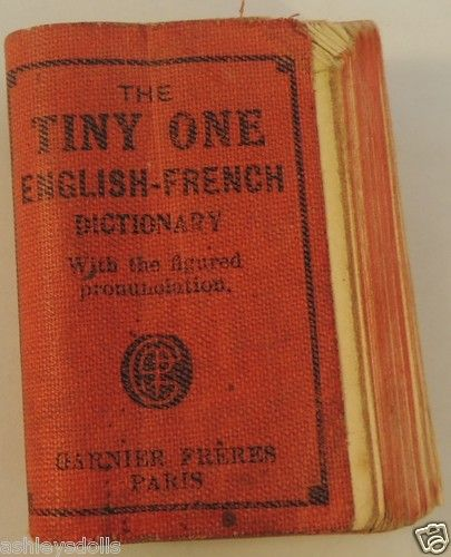 French Fashion Doll English-French Dictionary