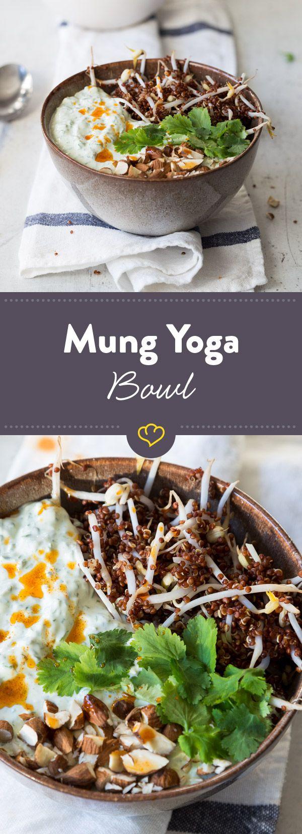 Greek Yogurt plus Mungbohnen macht: Mung Yoga Bowl