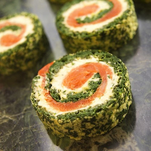 Smoked salmon pinwheels food drink pinterest for Smoked salmon roulade canape