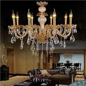 Chandelier Crystal  Zinc alloy Luxury Modern 8 Lights