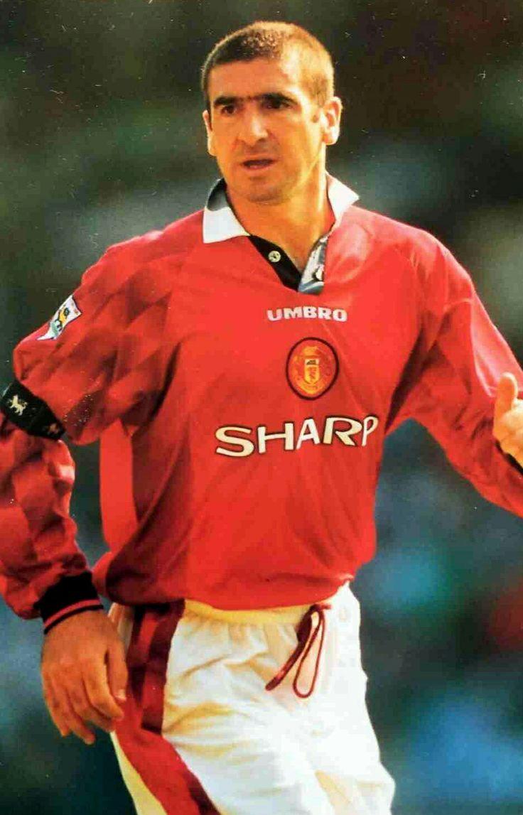 Eric Cantona of Man Utd in 1996.