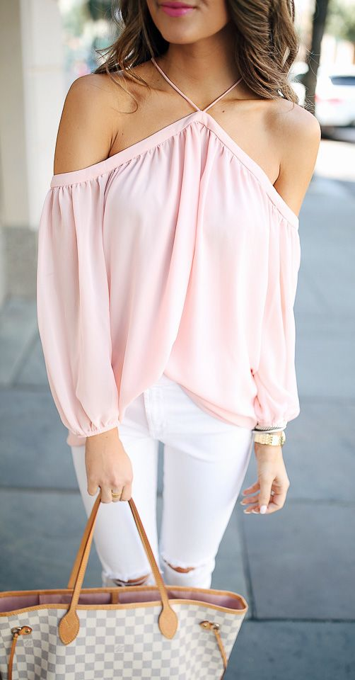 #summer #fashion / pastel pink