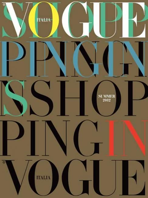 VOGUE Italia Cover - beautiful typography